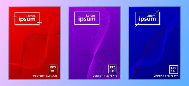 Set van minimale zakelijke brochure cover design Premium Vector