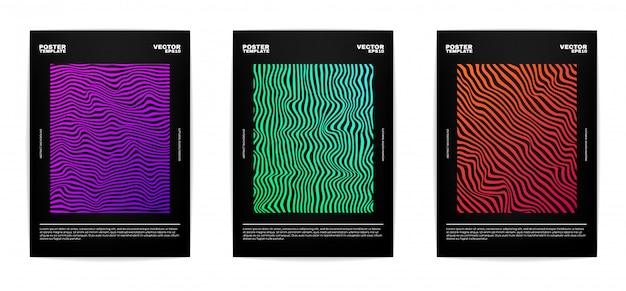 Set van moderne abstracte poster set Premium Vector