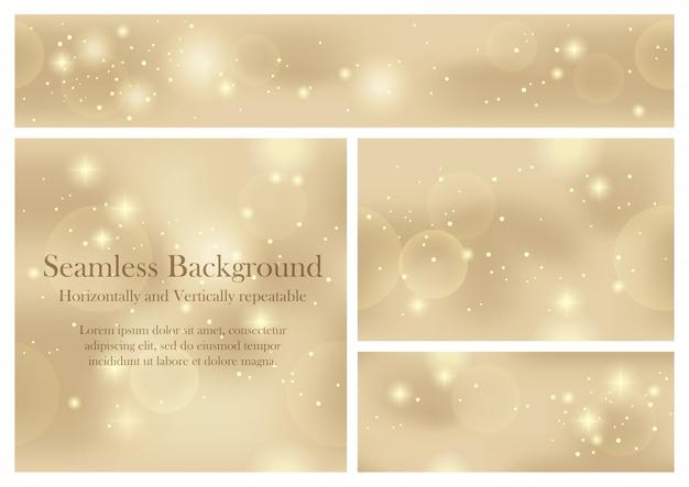 Set van naadloze patroon vector abstracte achtergronden. horizontaal en verticaal herhaalbaar. Premium Vector