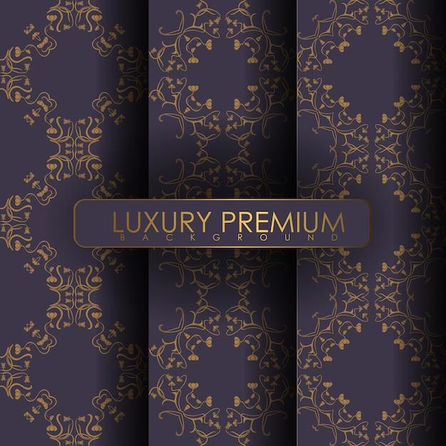 Set van ornament naadloze patroon Premium Vector