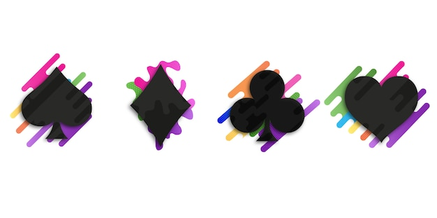 Set van pak kaarten Premium Vector