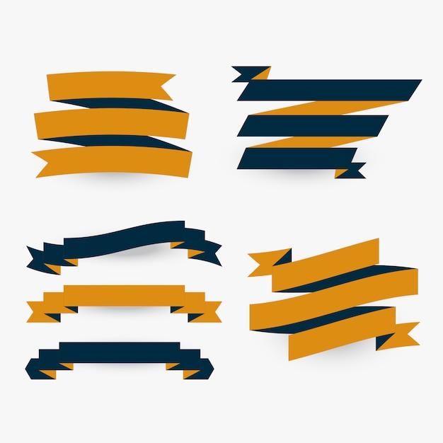 Set van platte premium linten Gratis Vector
