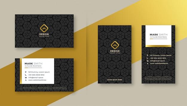 Set van premium visitekaartje ontwerp Gratis Vector
