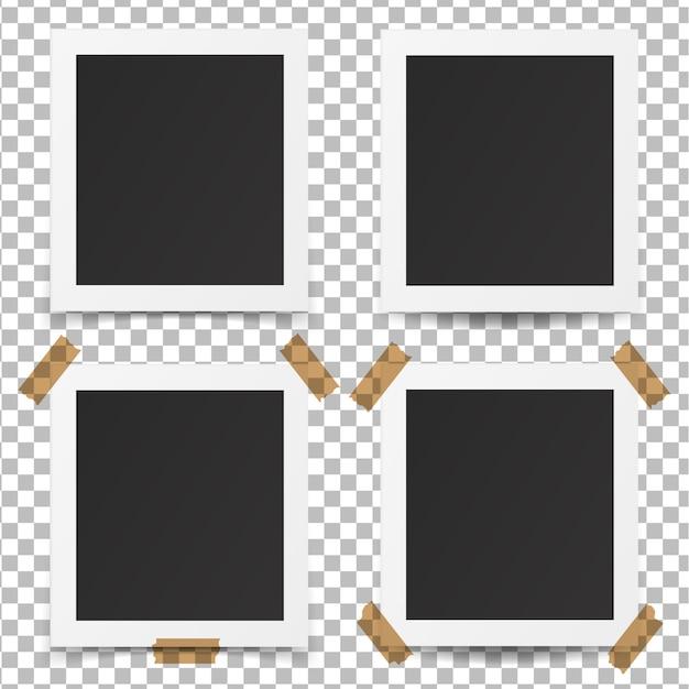 Set van realistische oude fotolijsten. Premium Vector