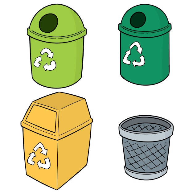 Set van recycle afval Premium Vector