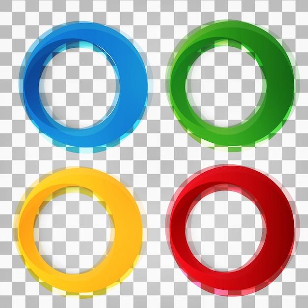 Set van ronde kleurrijke vectorvormen. Gratis Vector
