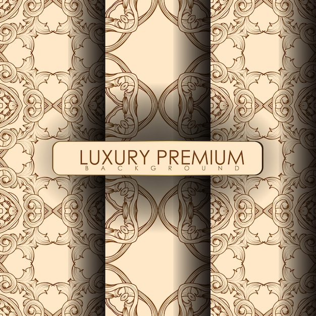 Set van sieraad naadloos patroon Premium Vector