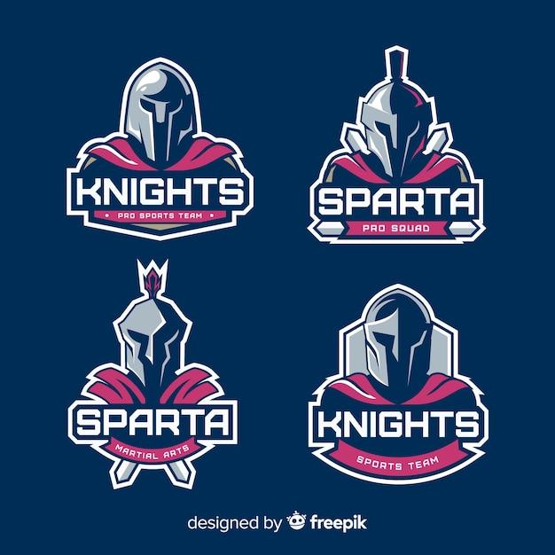 Set van spartaanse labels Gratis Vector