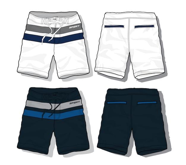 Set van sport shorts sjabloon Premium Vector