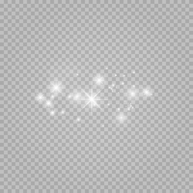 Set van sterren op een transparante witte en grijze achtergrond op een schaakbord. Premium Vector