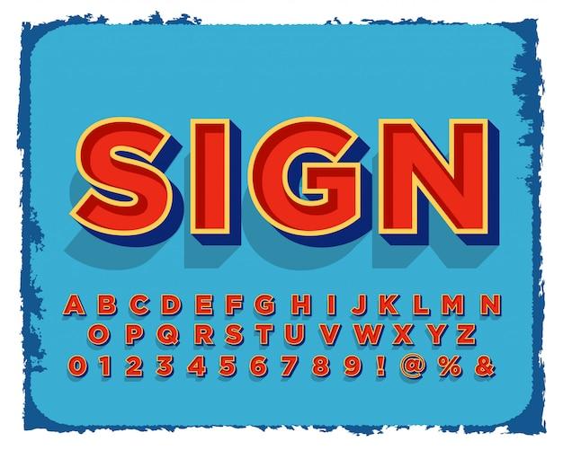 Set van teken schilderij alfabet ontwerp Premium Vector