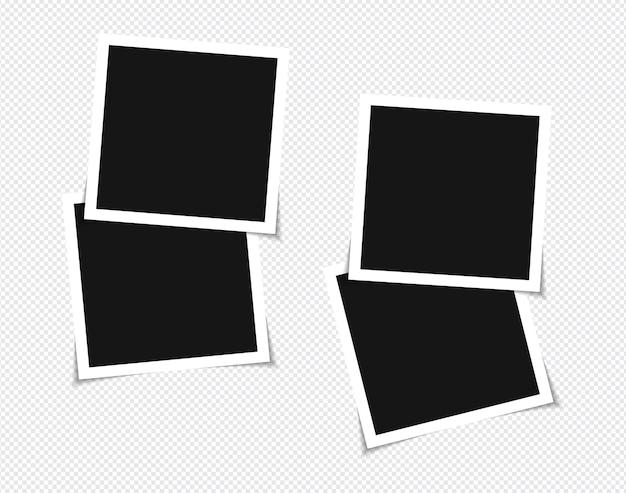 Set van vector fotolijst mockup ontwerp op plakband Premium Vector