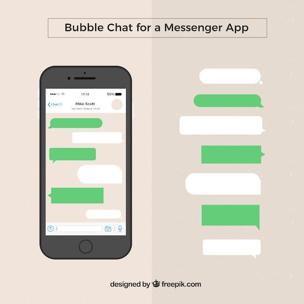 Set van verschillende bubbels chat voor messenger app Premium Vector