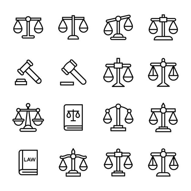 Set van wet lijn iconen Premium Vector