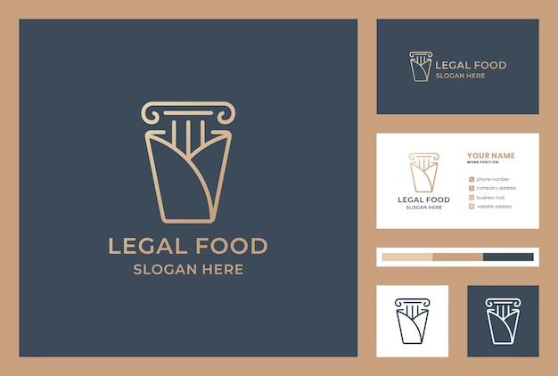 Set van wet logo visitekaartje Premium Vector