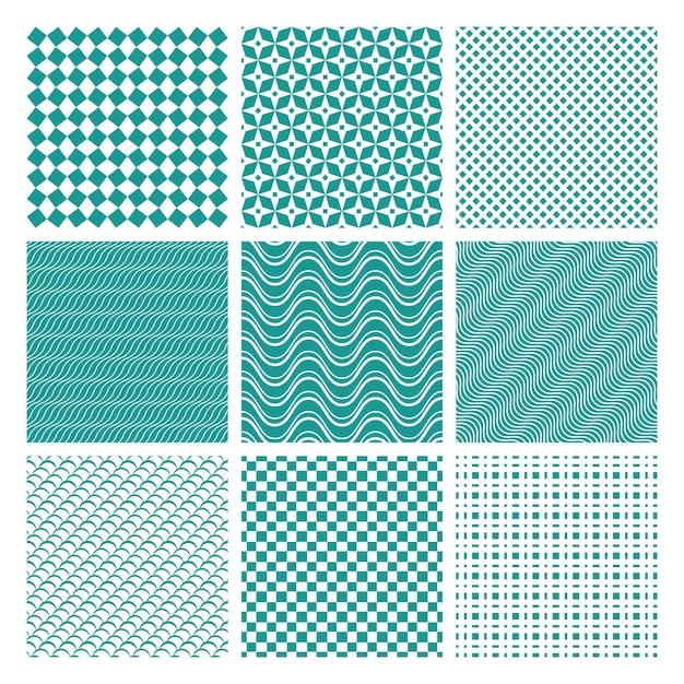 Set van zwart-wit naadloze patronen Gratis Vector