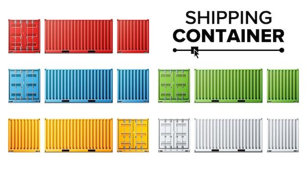 Set verzendcontainers Premium Vector
