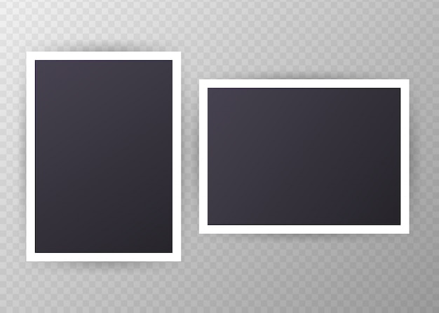 Set vintage fotolijstjes met plakband vintage stijl met plakband Premium Vector