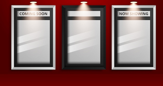 Set witte lege afbeeldingsframes en zwarte lege afbeeldingsframes Premium Vector