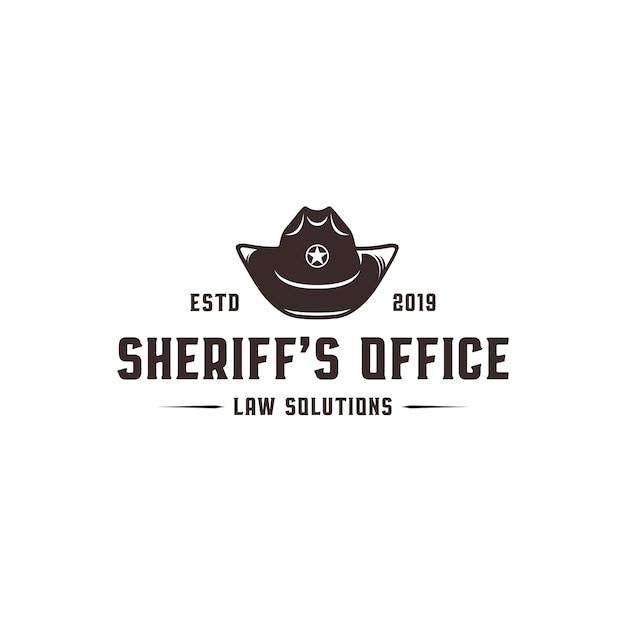 Sheriff's office logo sjabloon Premium Vector