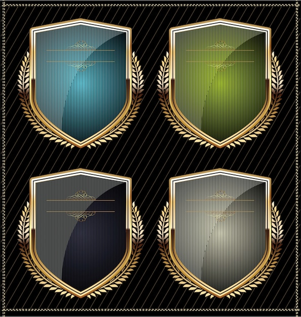 Shields Premium Vector