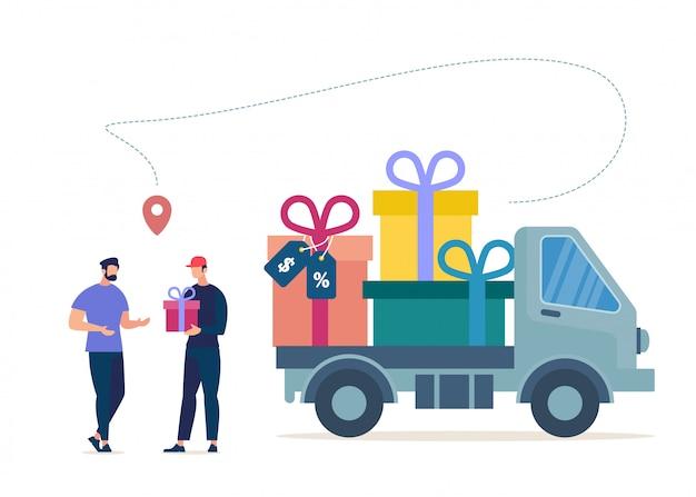 Shopping-artikelen in de uitverkoop, vaste klanten van het bedrijf Premium Vector