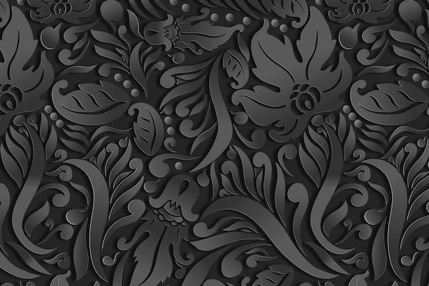 Sier bloemen abstracte achtergrond Gratis Vector