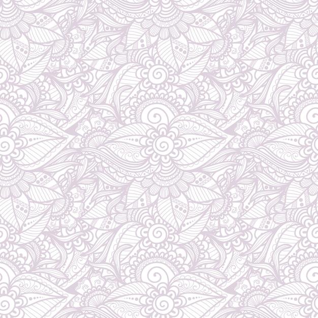 Sier bloemen naadloos patroon Gratis Vector