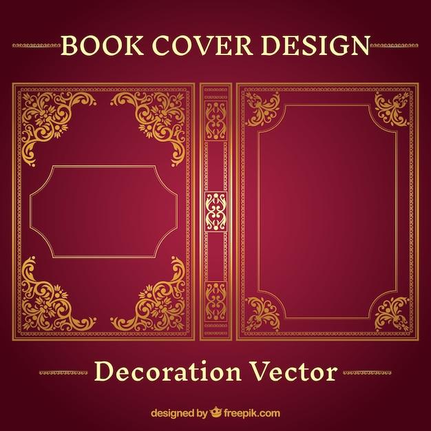 Book Cover Portadas Historicas ~ Sier boekomslag ontwerp vector gratis download