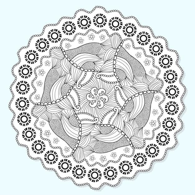 sier mandala cirkel kant ornament patroon vector voor