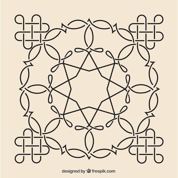 Sier moza ek ontwerp vector gratis download - Mozaiek ontwerp ...