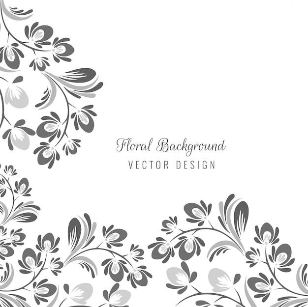 Sier naadloos decoratief bloemenontwerp Gratis Vector