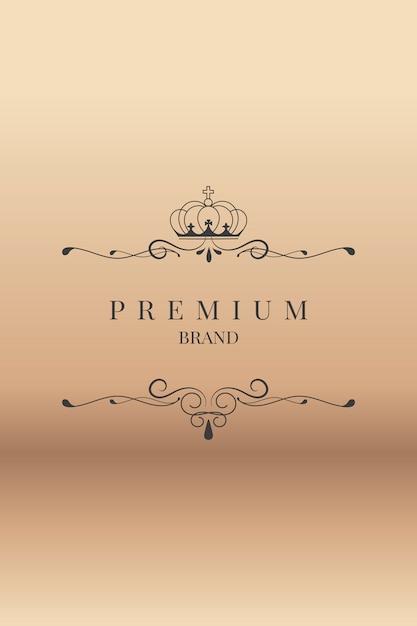 Sier premium merk Gratis Vector
