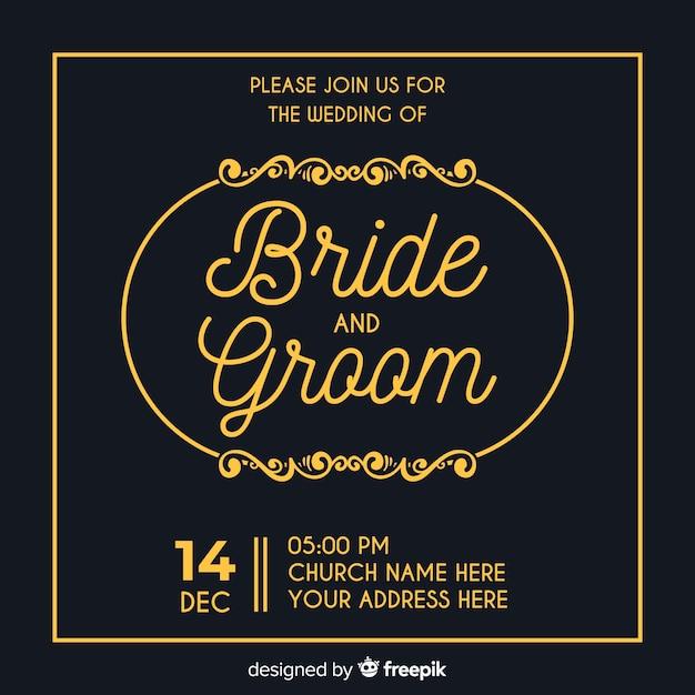 Sier sparen de uitnodiging van het datumhuwelijk Gratis Vector