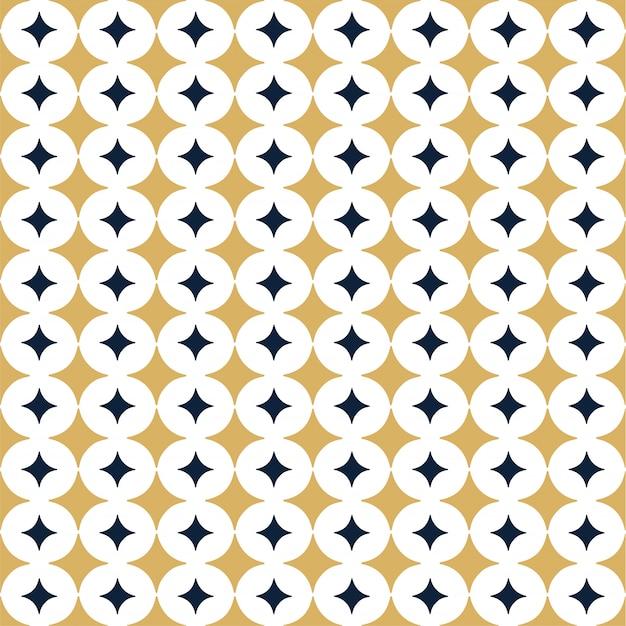 Sier vector naadloos patroon met ster. Premium Vector