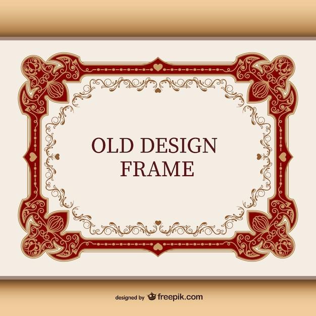Sier vintage frame Gratis Vector
