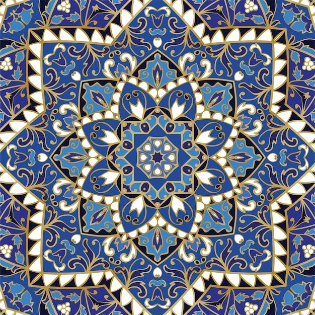 Sierlijke blauwe patroon. Premium Vector