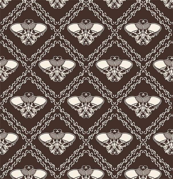 Sierschedel naadloos patroon - vector Premium Vector