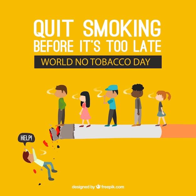Sigaret achtergrond met mensen Gratis Vector