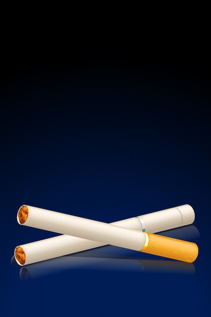 Sigaretten Premium Vector