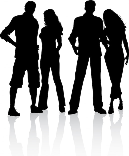 silhouet van een groep vrienden vector gratis download elk clip art png elk clip art borders