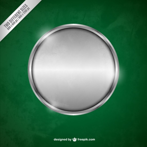 Silver metallic cirkel Gratis Vector