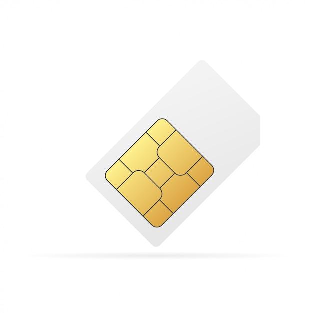 Sim-kaart-chip Premium Vector