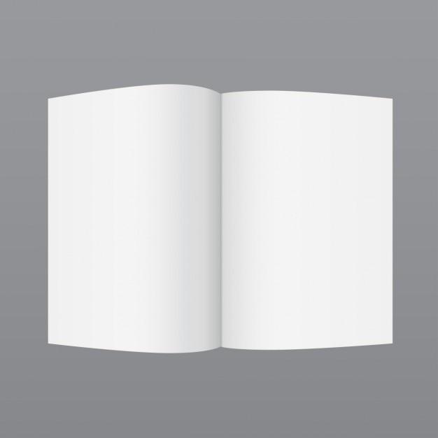 Simple boekje template Gratis Vector