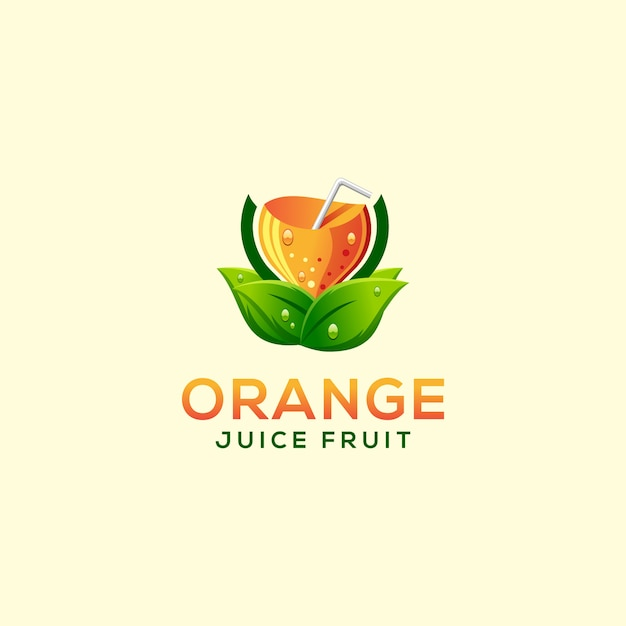 Sinaasappelsap fruit logo Premium Vector
