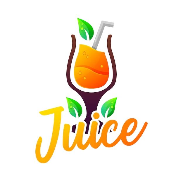 Sinaasappelsap logo Premium Vector