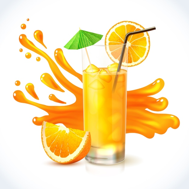 Sinaasappelsap Gratis Vector
