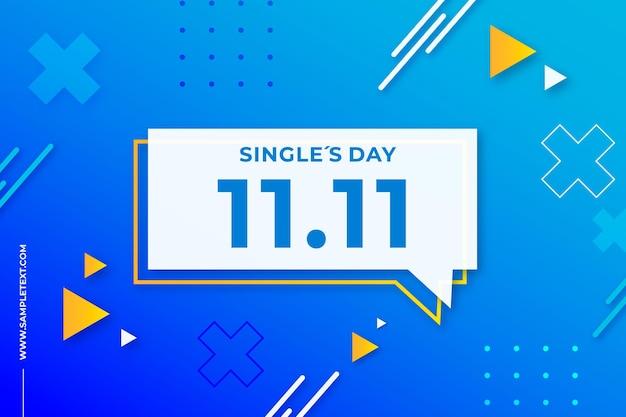 Singles day achtergrond in de stijl van memphis Gratis Vector