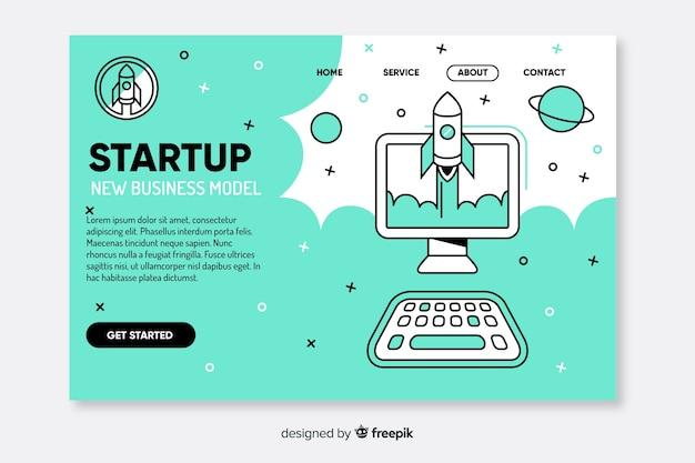 Sjabloon corporate startup bestemmingspagina Gratis Vector