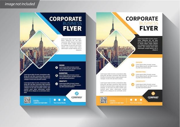 Sjabloon folder voor cover brochure jaarverslag bedrijf Premium Vector